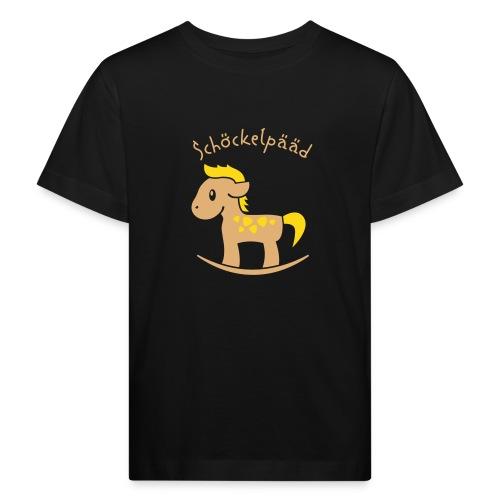 Schöckelpääd (für dunkle shirts, Köln, Karneval) - Kinder Bio-T-Shirt