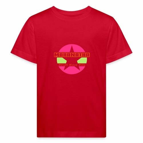 maranatha rosa-grün - Kinder Bio-T-Shirt