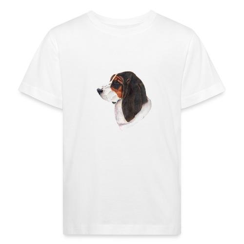 bassethound color - Organic børne shirt