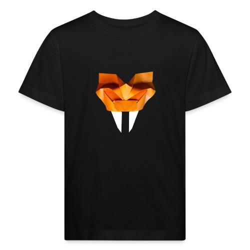 Origami Saber Toothed Tiger Mask - Origami Tiger - Kids' Organic T-Shirt