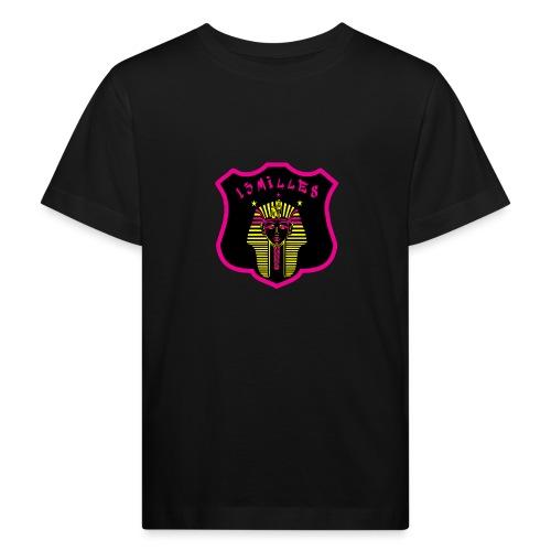 Pharaon Noir, Rose, Jaune hyper design - T-shirt bio Enfant