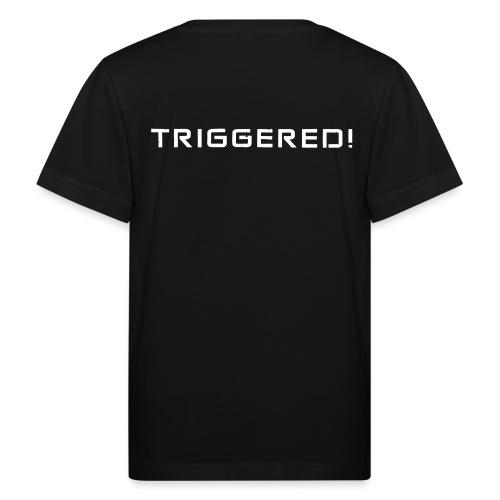 White Negant logo + TRIGGERED! - Organic børne shirt