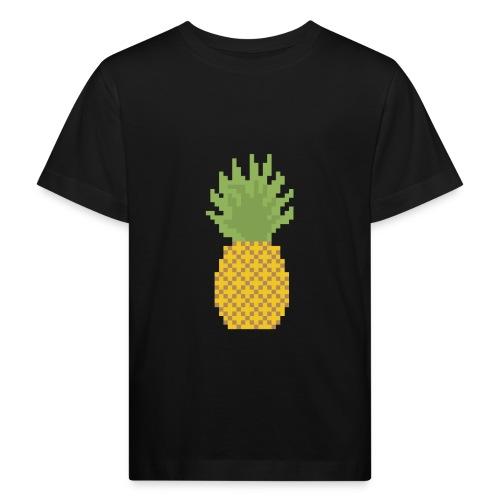 Pineapple Pixel Art - Kids' Organic T-Shirt