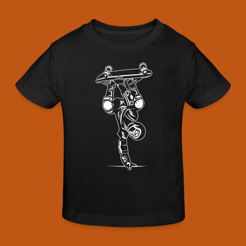 Skater / Skateboarder 02_weiß - Kinder Bio-T-Shirt