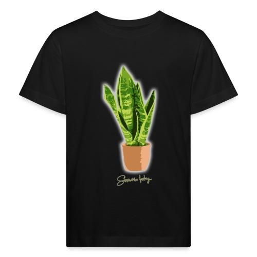 sanseveria fanboy - Kinderen Bio-T-shirt