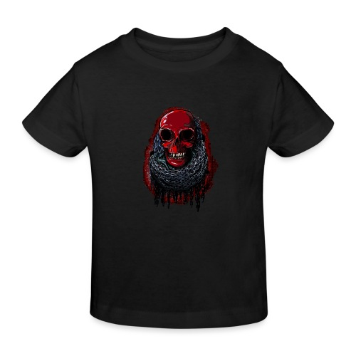 Red Skull in Chains - Kids' Organic T-Shirt