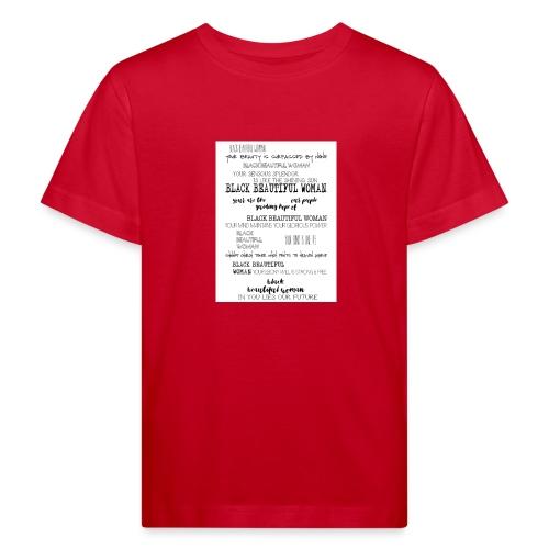 Beautiful Black Woman - Kids' Organic T-Shirt