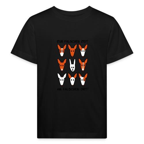 Zur falschen Zeit, am falschen Ort - Kinder Bio-T-Shirt