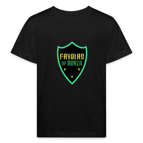 FAVELAS OF BRAZIL NOIR VERT DESIGN - T-shirt bio Enfant