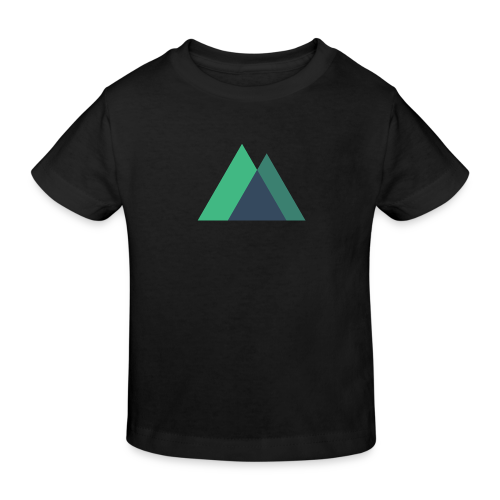 Mountain Logo - Kids' Organic T-Shirt