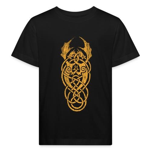 Keltische Drachen Gelb - Kinder Bio-T-Shirt