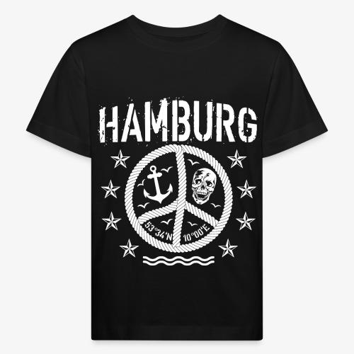 105 Hamburg Peace Anker Seil Koordinaten - Kinder Bio-T-Shirt