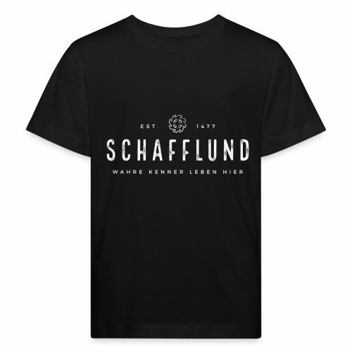 Schafflund - Wahre Kenner leben hier - Mühlenrad - Kinder Bio-T-Shirt