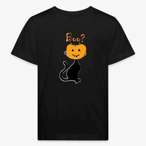 pumpkin cat patjila - Kids' Organic T-Shirt