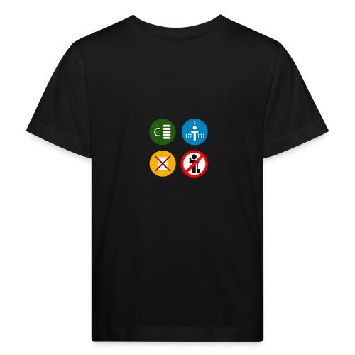 4kriteria ubi vierkant trans - Kinderen Bio-T-shirt