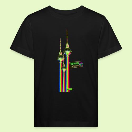 Fernsehturm / BerlinLightShow im Triple-Look - Kinder Bio-T-Shirt
