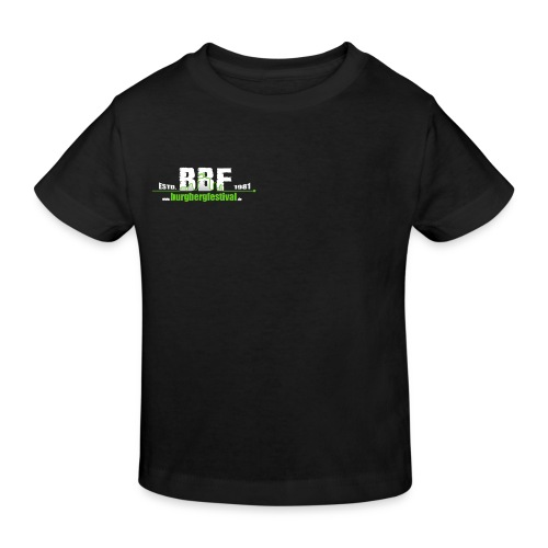 estd_logo leer_klein - Kinder Bio-T-Shirt