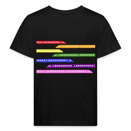 trains t shirt 2 - Kids' Organic T-Shirt