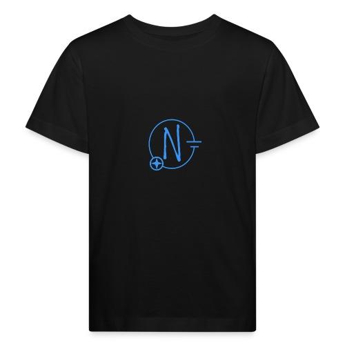 Logo1 blau - Kinder Bio-T-Shirt