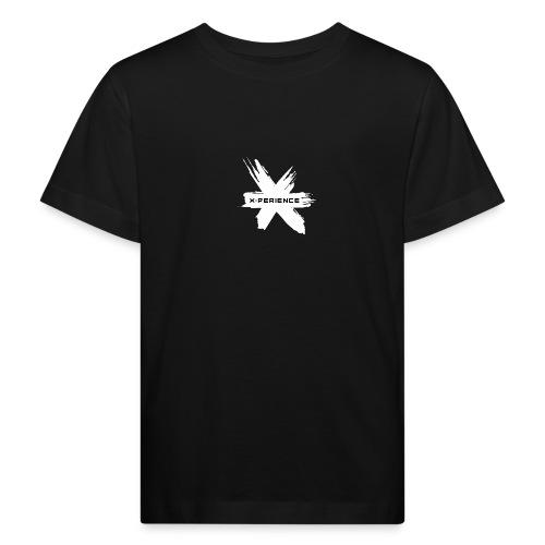 x-perience Logo weiß - Kinder Bio-T-Shirt