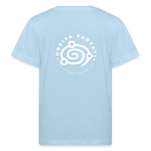 Orbita Parvati white logo - Kids' Organic T-Shirt