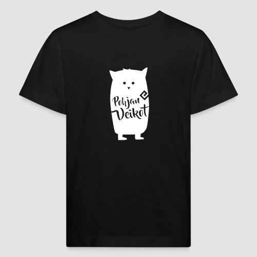 Veikko-pöllö valkoinen - Lasten luonnonmukainen t-paita