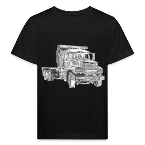 Flatbed Truck 3-axle - Kids' Organic T-Shirt