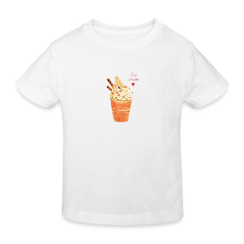 icecream love png - Kinder Bio-T-Shirt