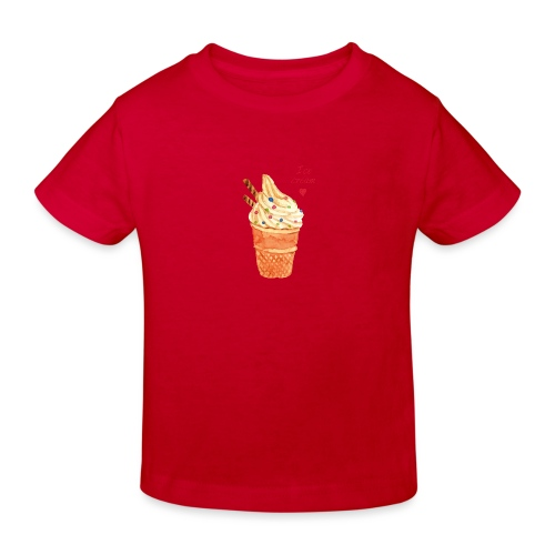 icecream love png - Kinder Bio-T-Shirt