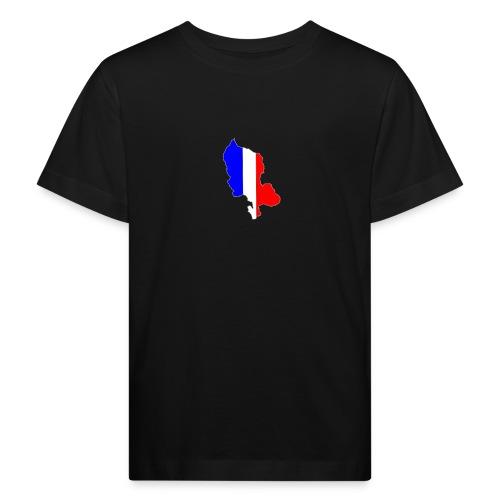 Carte Territoire de Belfort bleu blanc rouge - T-shirt bio Enfant