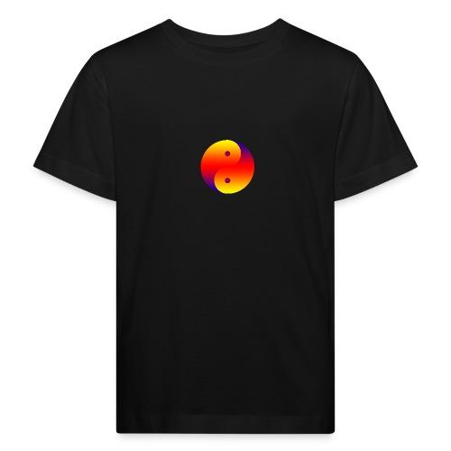 Yin Yang farbig - Kinder Bio-T-Shirt