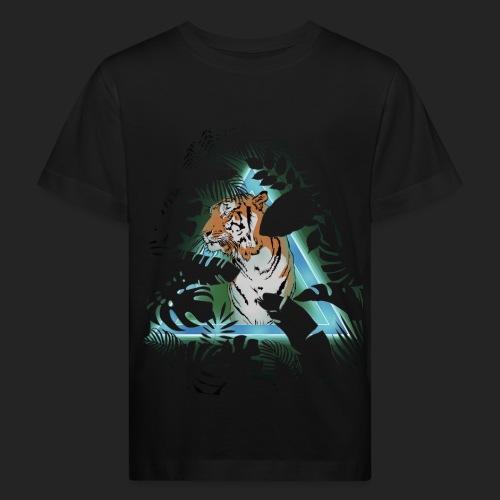 Tigre en soirée - T-shirt bio Enfant