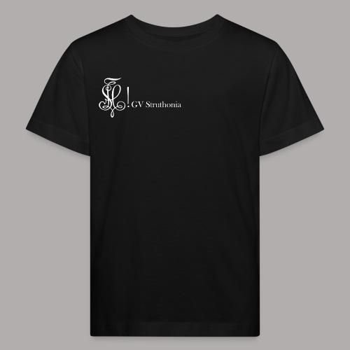 Zirkel mit Name, weiss (vorne) - Kinder Bio-T-Shirt