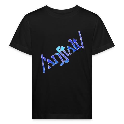 /'angstalt/ logo gerastert (blau/weiss) - Kinder Bio-T-Shirt