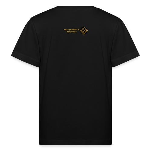 TIAN GREEN Welt Mosaik Shirt - Logo 2020 - Kinder Bio-T-Shirt