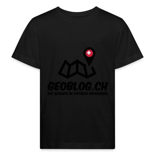 Logo+Schriftzug-hoch - Kinder Bio-T-Shirt