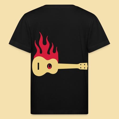 Burning Uke / Rockabilly Ukulele - Kinder Bio-T-Shirt