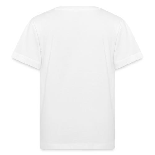 wit logo transparante achtergrond - Kinderen Bio-T-shirt