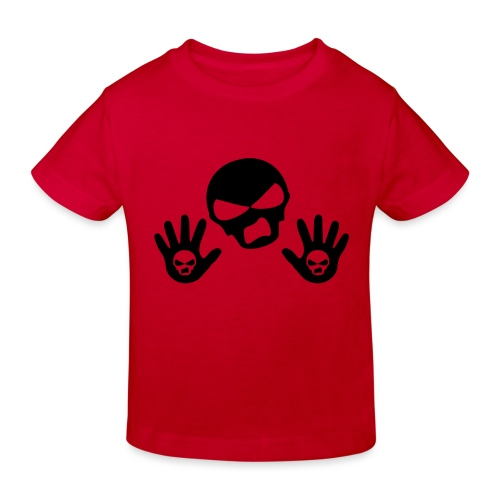Scottish Button Saltire - Kids' Organic T-Shirt
