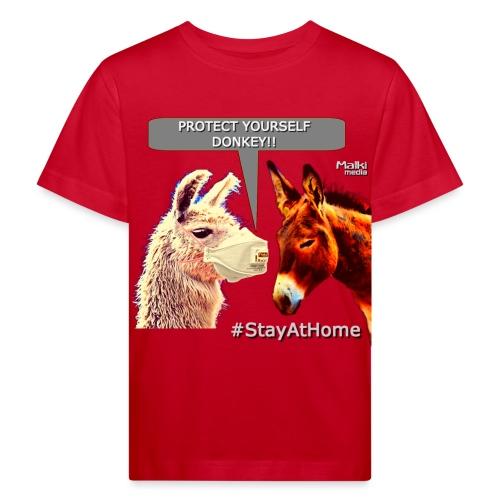 Protect Yourself Donkey - Coronavirus - Kids' Organic T-Shirt