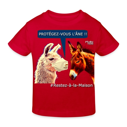 PROTEGEZ-VOUS L'ÂNE !! - Coronavirus - Kids' Organic T-Shirt