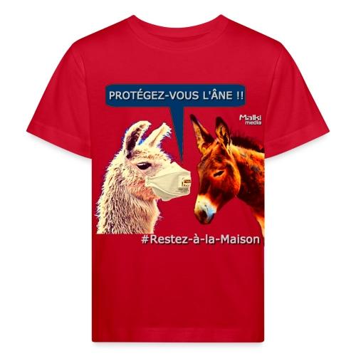 PROTEGEZ-VOUS L'ÂNE !! - Coronavirus - Kinder Bio-T-Shirt