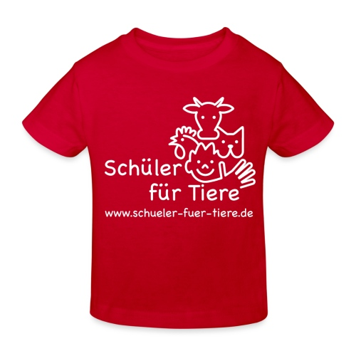 Logo Weiß (2x) - Kinder Bio-T-Shirt