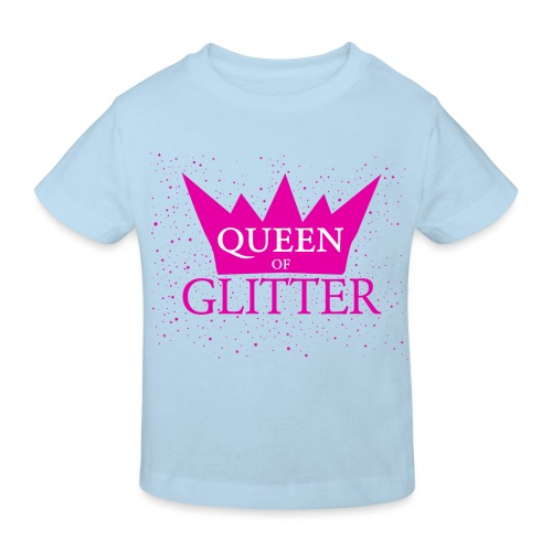 Königin des Glitzer - Kinder Bio-T-Shirt