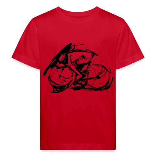 futuristischer radfahrer - Kinder Bio-T-Shirt