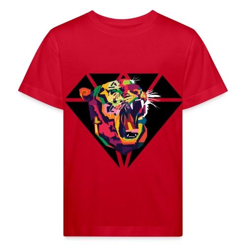 Tiger Hipster Design - Kinder Bio-T-Shirt