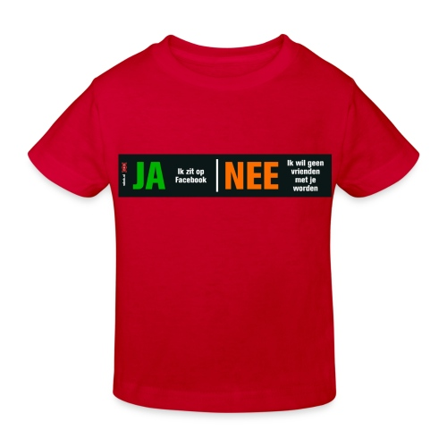 facebookvrienden - Kinderen Bio-T-shirt