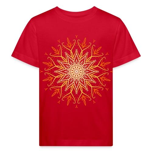 Mandala of fire - Kids' Organic T-Shirt