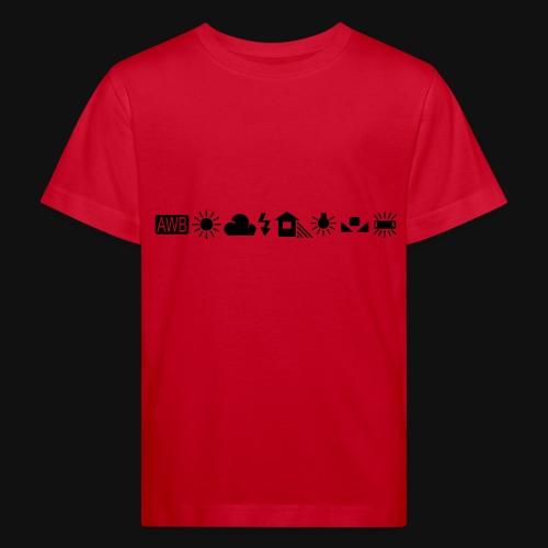 Weissabgleich Symbole Horizontal - Kinder Bio-T-Shirt