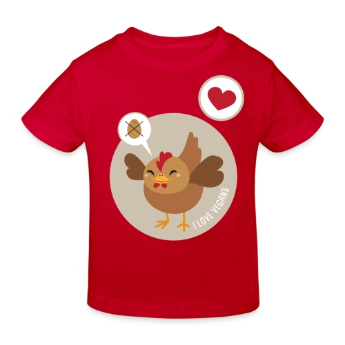 I love Vegans - Kids' Organic T-Shirt